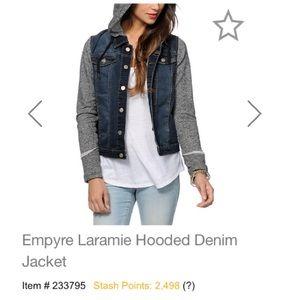 Empyre Hooded Denim Jacket